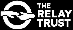 Relay Trust Logo lockup white